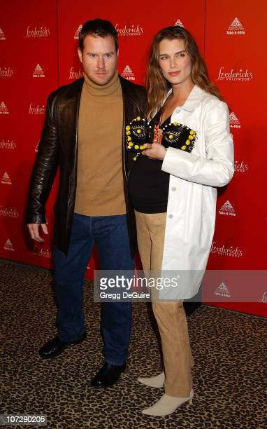 Brooke Shields & Husband Chris Henchy during Smashbox Fashion Week Los Angeles - Frederick's of Hollywood Fashion Show Fall 2003 Collection to...