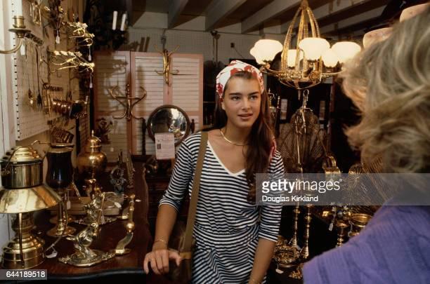 Brooke Shields in a Store