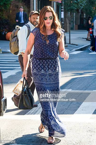 Brooke Shields is seen on October 18 2016 in New York City