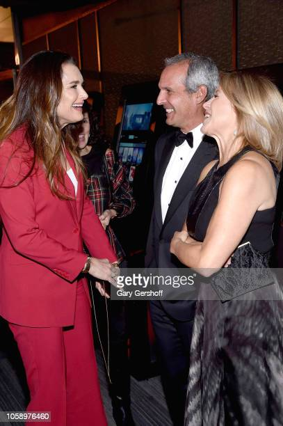 Brooke Shields John Molner and Katie Couric attend the opening of CMX CineBistro with special screenings of 'Blackkklansman' 'City Lights' and...