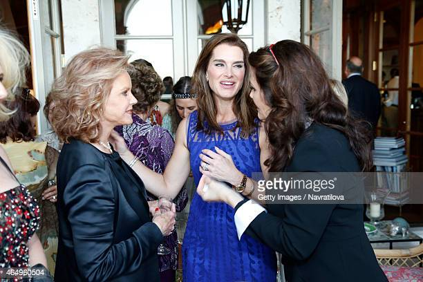 Brooke Shields Lynda Carter and guests attend the Martina Navratilova and Julie Lemigova wedding reception on February 14 2015 in Palm Beach
