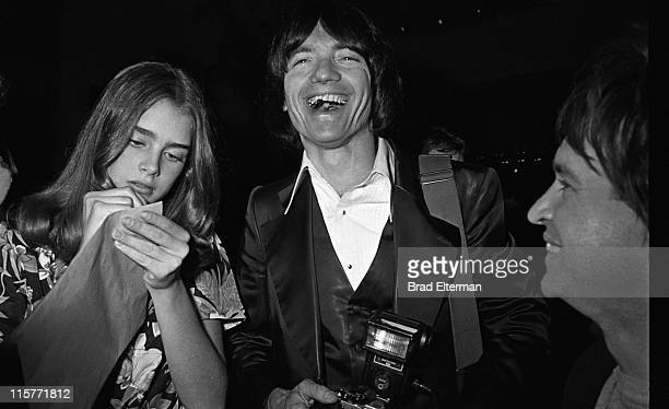 Brooke Shields photographer Julian Wasser and Rodney Bingenheimer at a party for Blondie in Los Angeles California **EXCLUSIVE**