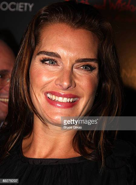 Brooke Shields poses at a screening of Filth and Wisdom hosted by The Cinema Society and Dolce and Gabbana at the Sunshine IFC Center on October 13...