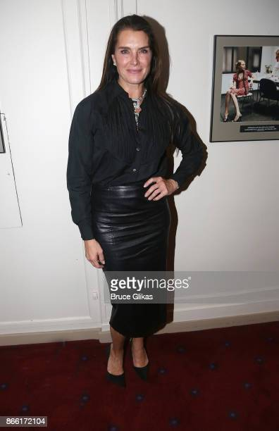 Brooke Shields poses at 'The Portuguese Kid' at Manhattan Theatre Club at City Center on October 24 2017 in New York City
