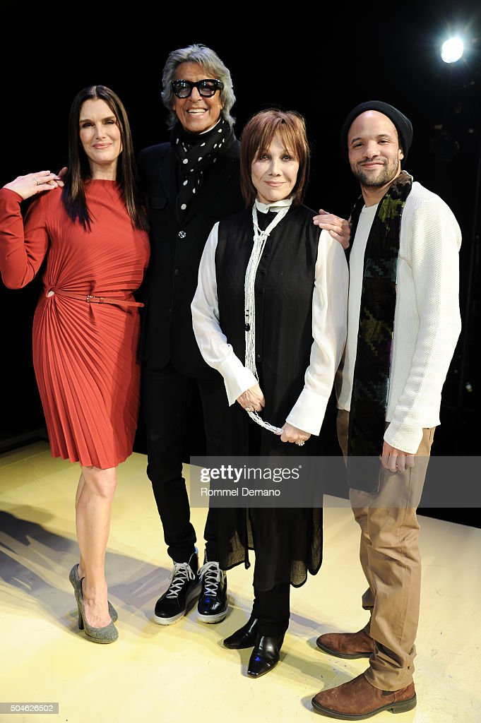 Brooke Shields, Tommy Tune, Maurice Hines, Michele Lee and Savion Glover attend 'Maurice Hines Tappin' Thru Life' opening night and curtain call at New World Stages on January 11, 2016 in New York City.