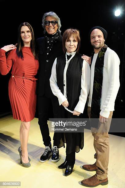 Brooke Shields Tommy Tune Maurice Hines Michele Lee and Savion Glover attend 'Maurice Hines Tappin' Thru Life' opening night and curtain call at New...