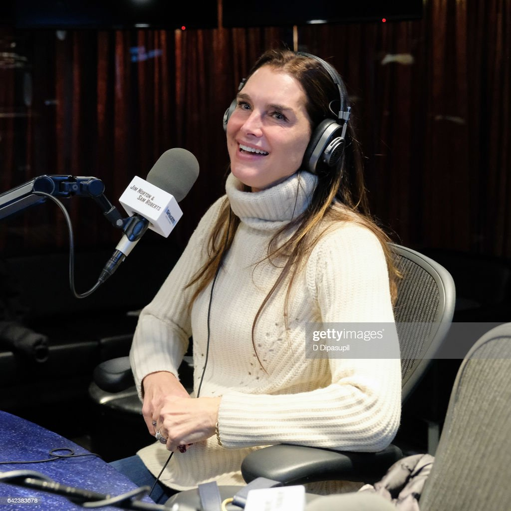 Brooke Shields visits SiriusXM Studios on February 17, 2017 in New York City.