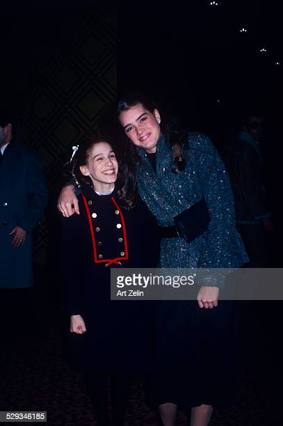 Brooke Shields with a young Sarah Jessica Parker circa 1970 New York