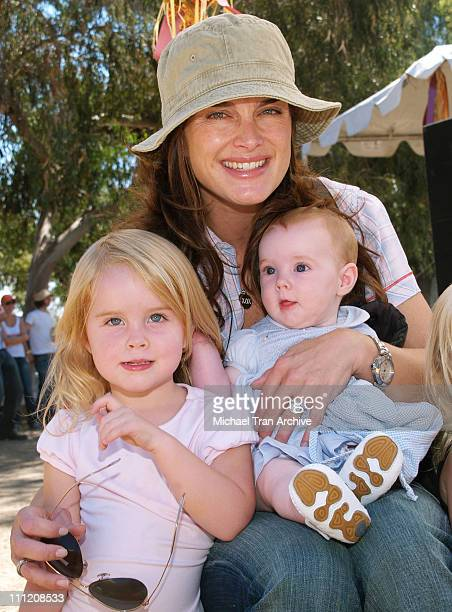 Brooke Shields with children Rowan Francis and Grier Hammond
