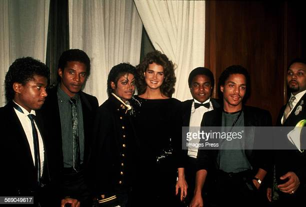 Brooke Shields with The Jacksons circa 1984 in New York City