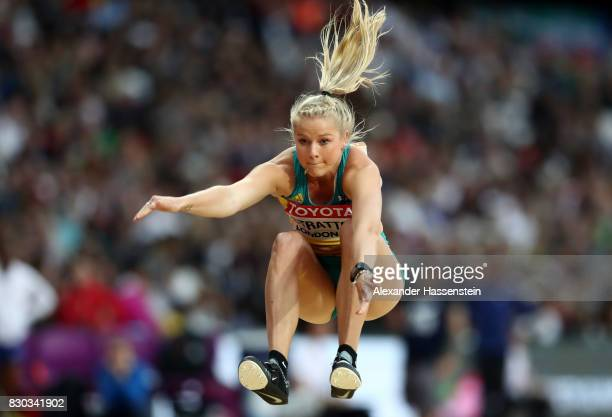 Brooke Stratton of Australia competes in the Women's Long Jump final during day eight of the 16th IAAF World Athletics Championships London 2017 at...