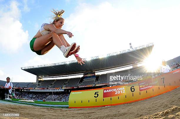 Brooke Stratton of Australia competes on the Women's Long Jump Final on the day four of the 14th IAAF World Junior Championships at Estadi Olimpic...