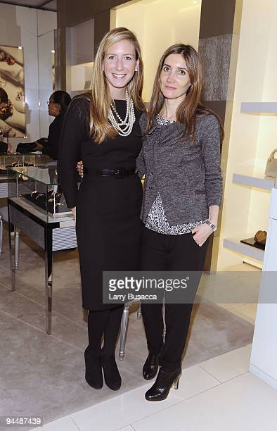 Brooke Travis DIOR VP Marketing and Events and Florence Montagne of DIOR attend the DIOR and Harper's Bazaar holiday celebration at the Dior Boutique...