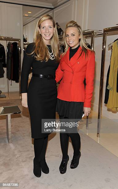 Brooke Travis DIOR VP Marketing and Events with Taylor Olson of DIOR attend the DIOR and Harper's Bazaar holiday celebration at the Dior Boutique on...