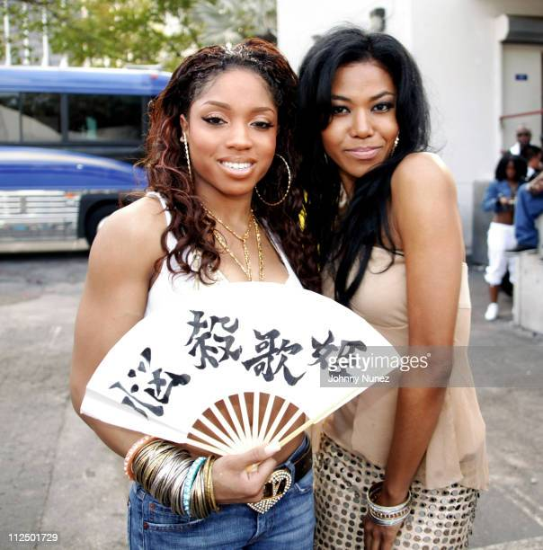 Brooke Valentine and Amerie during Miami Spring Fest 2005 at BayFront Park in Miami Florida United States