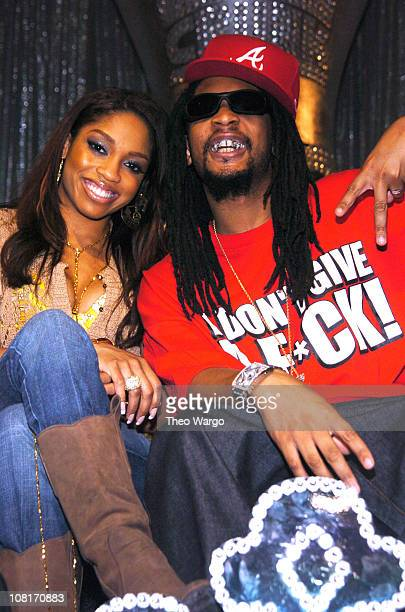Brooke Valentine and Lil' Jon during AOL Music Live with Lil' Jon and the East Side Boyz at Webster Hall in New York City New York United States