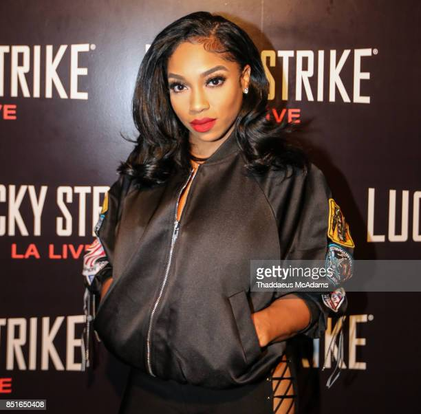 Brooke Valentine at Lucky Strike Bowling Alley on September 21 2017 in Hollywood California