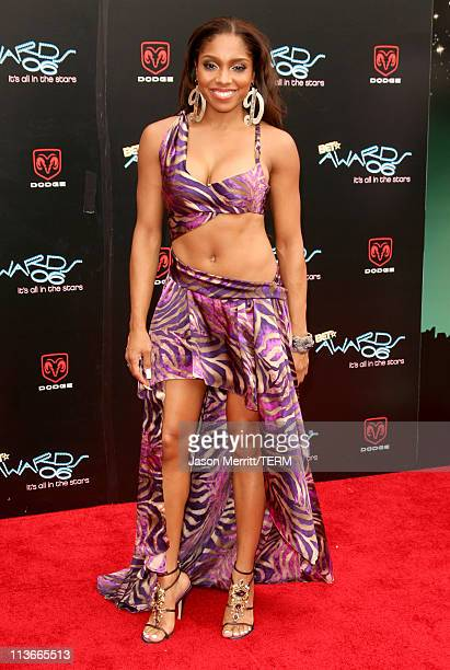 Brooke Valentine during 2006 BET Awards Arrivals at The Shrine in Los Angeles California United States