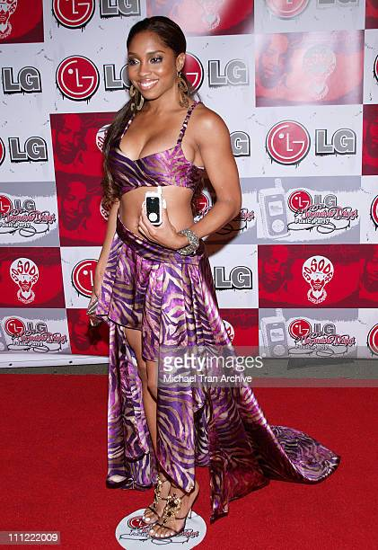 Brooke Valentine during LG Jermaine Dupri Launch New Fusic Arrivals at Day After Nightclub in Hollywood California United States