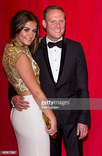 Brooke Vincent and Antony Cotton attend the British Soap Awards at Hackney Empire on May 24 2014 in London England