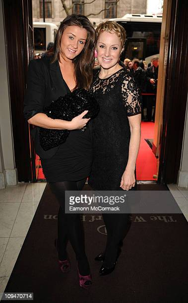 Brooke Vincent and Sally Dynevor attend the Tesco Magazine Mum Of The Year 2011 at The Waldorf Hilton Hotel on February 27 2011 in London England