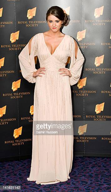 Brooke Vincent arrives for the RTS Programme Awards 2012 at the Grosvenor House Hotel on March 20 2012 in London England