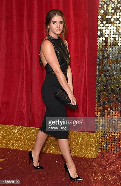Brooke Vincent attends the British Soap Awards at Manchester Palace Theatre on May 16 2015 in Manchester England