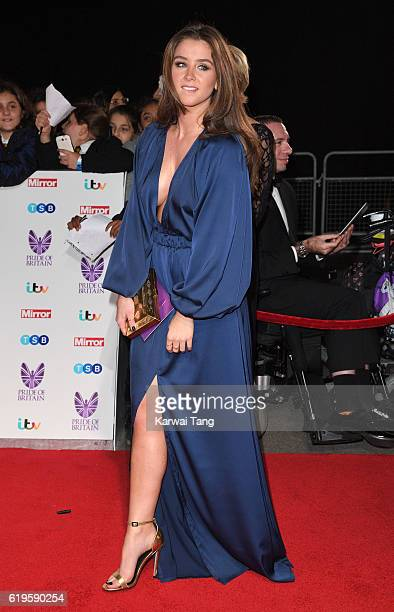 Brooke Vincent attends the Pride Of Britain Awards at The Grosvenor House Hotel on October 31 2016 in London England