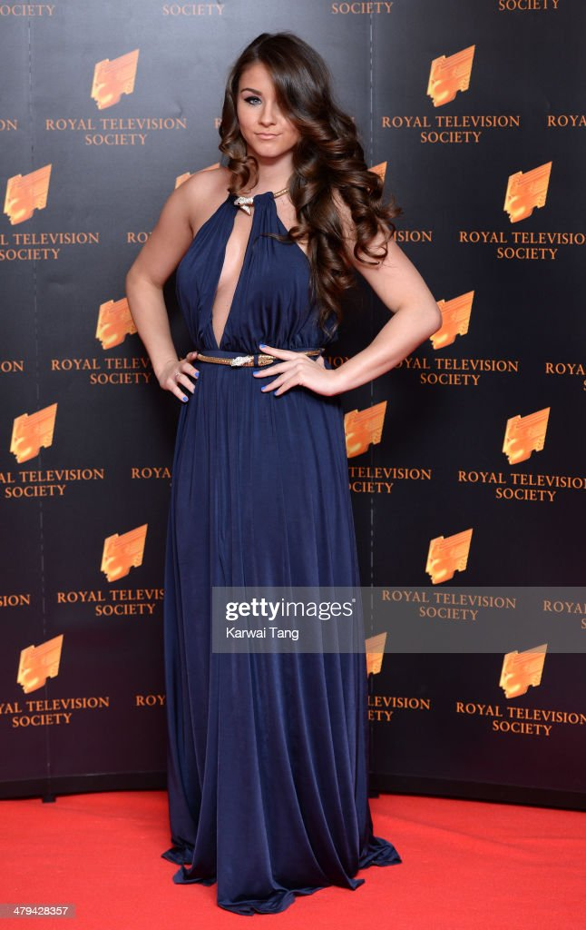 Brooke Vincent attends the RTS programme awards at Grosvenor House, on March 18, 2014 in London, England.