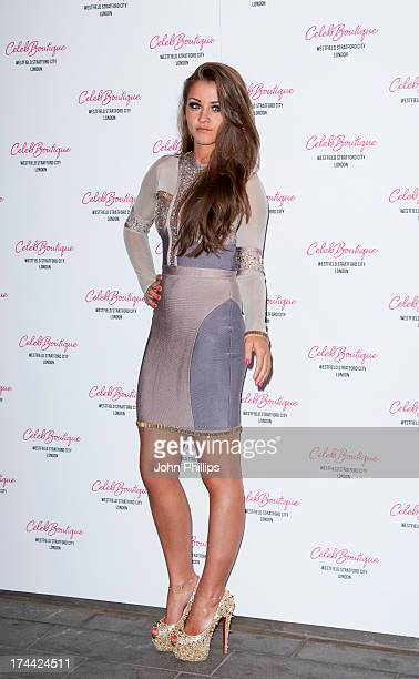 Brooke Vincent attends the store launch party at CelebBoutique Westfield Stratford City on July 25 2013 in London England