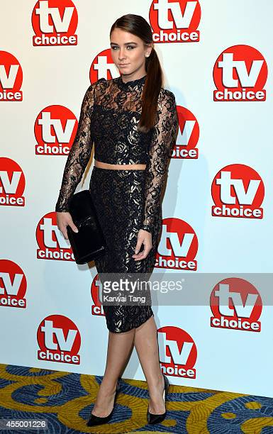 Brooke Vincent attends the TV Choice Awards 2014 at London Hilton on September 8 2014 in London England