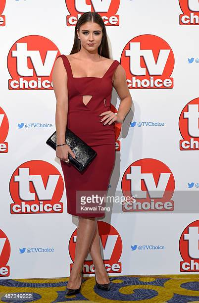 Brooke Vincent attends the TV Choice Awards 2015 at Hilton Park Lane on September 7 2015 in London England