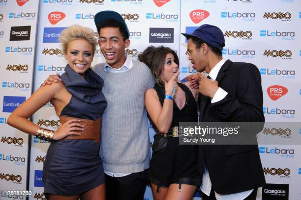 Brooke Vincent Harley 'Sylvester' AlexanderSule Sasha Parkinson and Jordan 'Rizzle' Stephens pose during the MOBO Awards 2011 at the SECC on October...