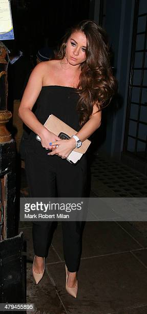 Brooke Vincent leaves the Groucho club on March 18 2014 in London England