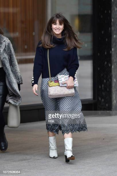 Brooke Vincent spotted outside the ITV Studios on November 26 2018 in London England
