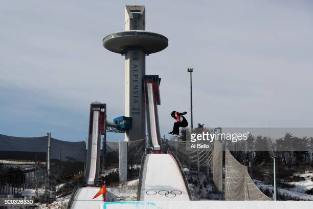 Brooke Voigt of Canada competes during the Snowboard Ladies' Big Air Qualification on day 10 of the PyeongChang 2018 Winter Olympic Games at Alpensia...