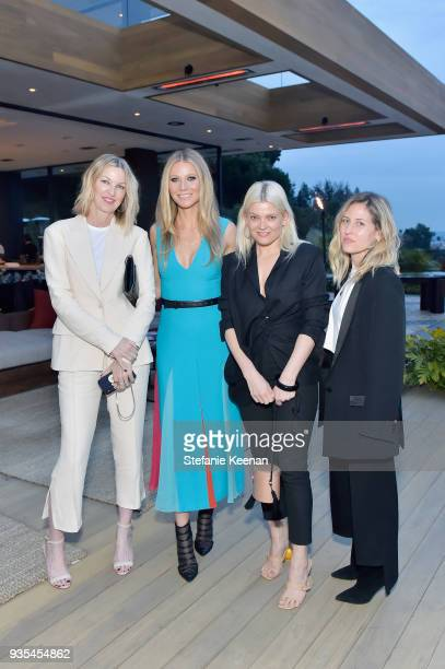 Brooke Wall Gwyneth Paltrow Kate Young and Ali Bird attend The Hollywood Reporter and Jimmy Choo Power Stylists Dinner on March 20 2018 in Los...