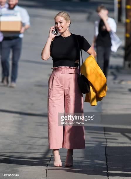 Brooke Werner is seen at 'Jimmy Kimmel Live' on March 15 2018 in Los Angeles California