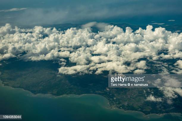 Brooke's Point in Province of Palawan in Philippines daytime aerial view from airplane daytime aerial view from airplane