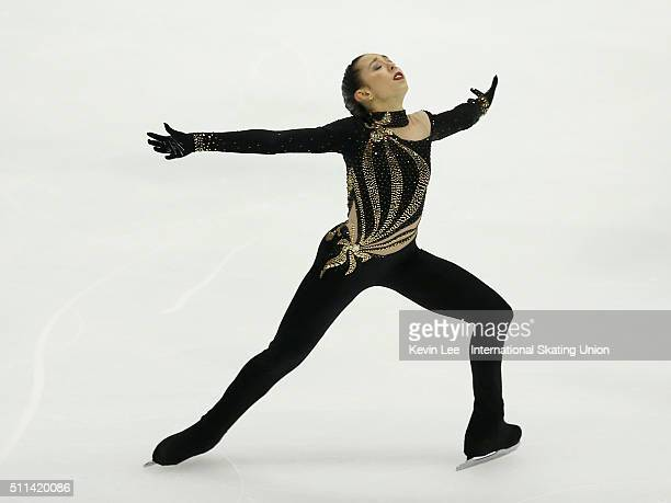 Brooklee Han of Australia performs during the Ladies Free Skating on day three of the ISU Four Continents Figure Skating Championships 2016 at Taipei...