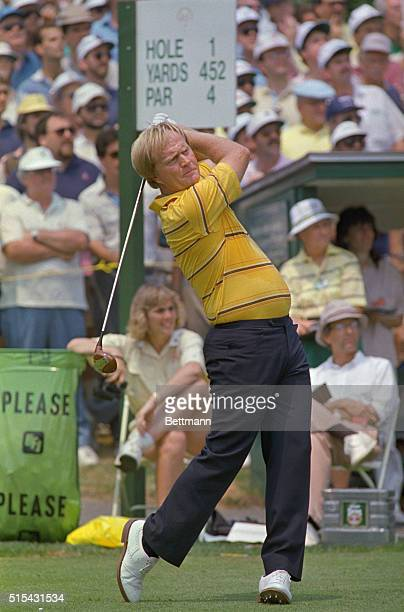 Brookline, Massachusetts: Golf great Jack Nicklaus tees off the first tee as he becomes the first golfer to participate in a record 32 consecutive...