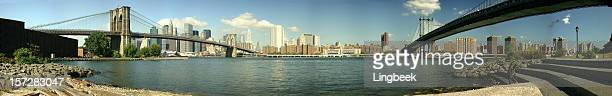 Brooklyn and Manhattan Bridge Panorama