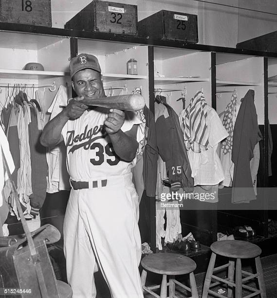 Baseball Ebbets Field Dodger catcher Roy Campanella tied a N L record for catchers driving in his 122nd run of the season The old record of 122 RBI's...