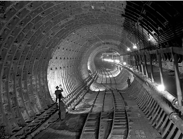 Brooklyn Battery Tunnel under construction.,