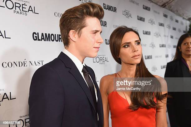 Brooklyn Beckham and Businesswoman Victoria Beckham attend 2015 Glamour Women Of The Year Awards at Carnegie Hall on November 9 2015 in New York City