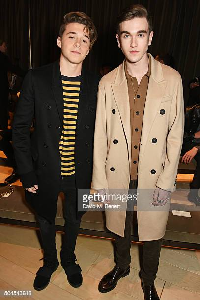 Brooklyn Beckham and Gabriel DayLewis attend the Burberry Menswear January 2016 Show on January 11 2016 in London United Kingdom