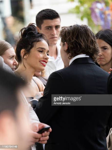 Brooklyn Beckham and Hana Cross are seen at the Martinez hotel during the 72nd annual Cannes Film Festival on May 21 2019 in Cannes France
