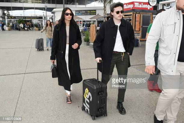 Brooklyn Beckham and Hana Cross arrive ahead of/departs the 72nd annual Cannes Film Festival at Nice Airport on May 21 2019 in Nice France