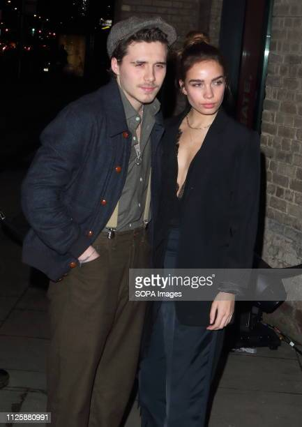 Brooklyn Beckham and Hana Cross at the Naked Heart Foundation's Fabulous Fund Fair at the Roundhouse Chalk Farm