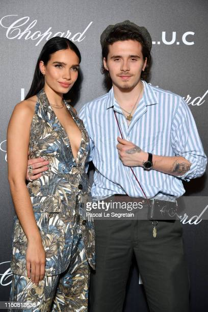 Brooklyn Beckham and Hana Cross attend Chopard's The Gentleman's Evening At The Hotel Martinez at Hotel Martinez on May 21, 2019 in Cannes, France.
